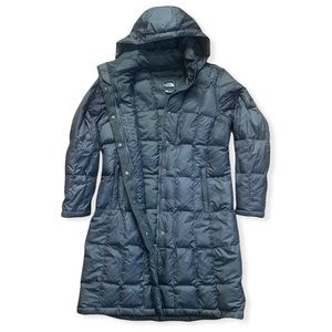 North Face 550 Down Parka - Charcoal Gray (Size L)